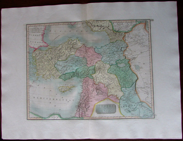 Turkey in Asia Armenia Kurdistan Iraq Syria Algezira Roum c.1800 Cary large map