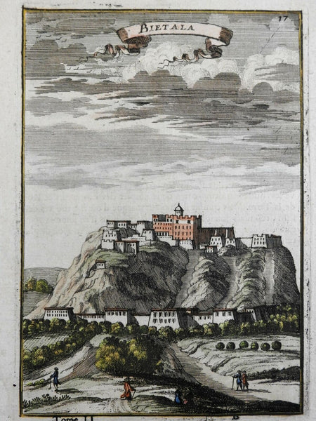 Potala Tibet Spiritual home of Dalai Lama 1683 Mallet city view