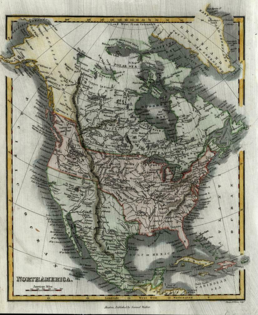 North America United States Lake Trimpanogos doubtful unknown 1834 Walker map
