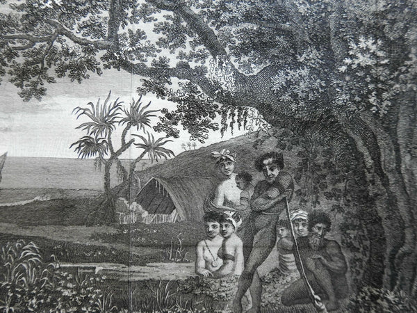 Tanna Island Family Scene Native Peoples 1801 Captain Cook engraved print