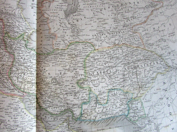 Saudi Arabia Turkey Persia Afghanistan Middle East c.1831 Lapie large old map