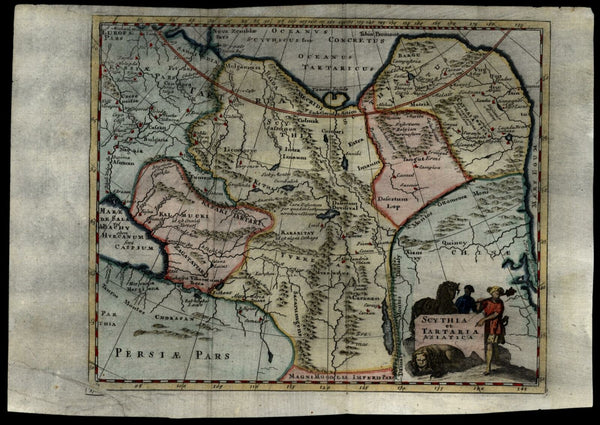 Scythia Tartary Russian Siberia China Korea Asia 1712 decorative Cluverius map