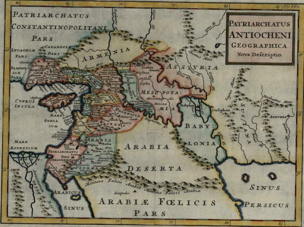 Holy Land Arabia Babylonia Mesopotamia Middle East Cyprus 1726 Moll map