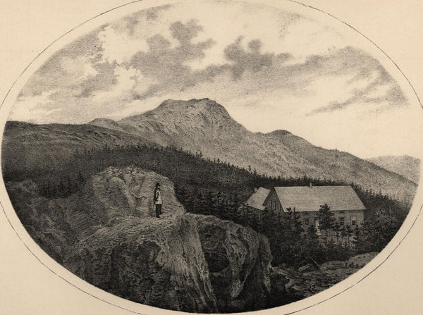 The Chin & Summit House Mansfield Mtn. Vermont 1861 lithographed view print