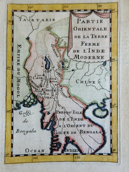 Southeast Asia Further India Burma Siam Vietnam Cambodia 1683 Mallet map