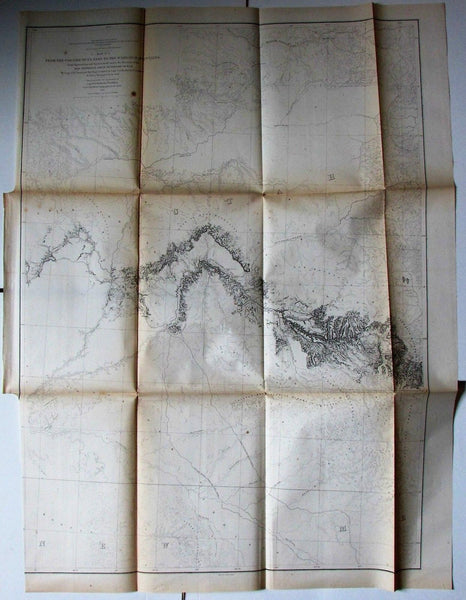 Coo-Che-To-Pa Pass Wasatch Mountains Utah Colorado 1855 Jeff Davis U.S. RR map