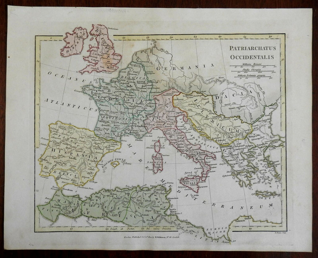 Western Patriarchate Church of Rome Western Europe 1800 Wilkinson historical map