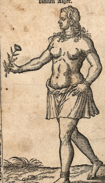 North Africa Algiers Slave daughter c.1570 Dutch de Nicolay Turkish ethnic print