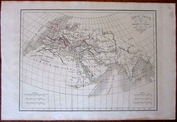 Ancient World Orbis Vetus Arabia Europe India Africa Mts of Moon 1830 map