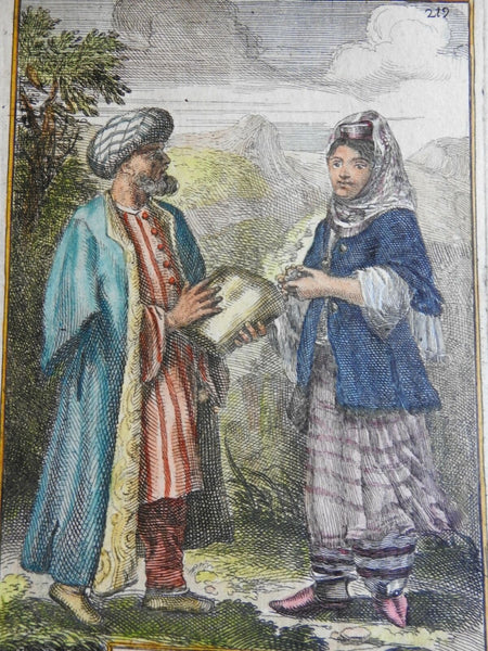 Armenian Couple Costume Print Ethnic View 1683 Mallet Armenia print