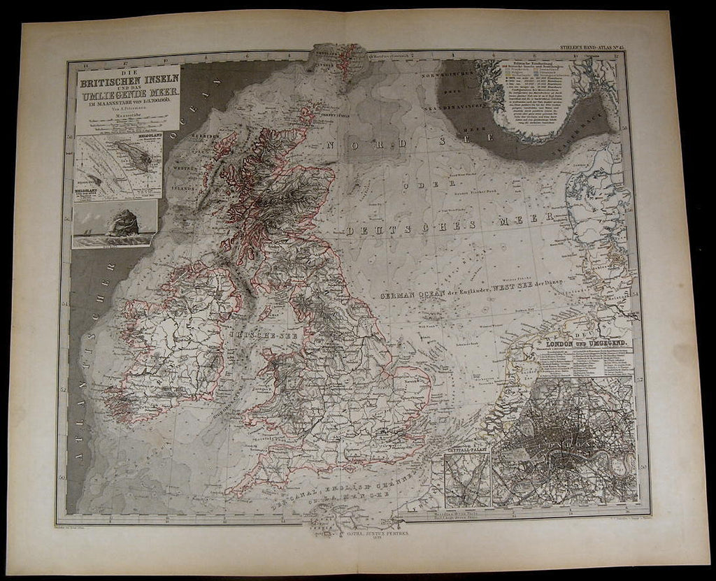 British Isles England Wales Ireland Scotland London 1879 fine old detailed map