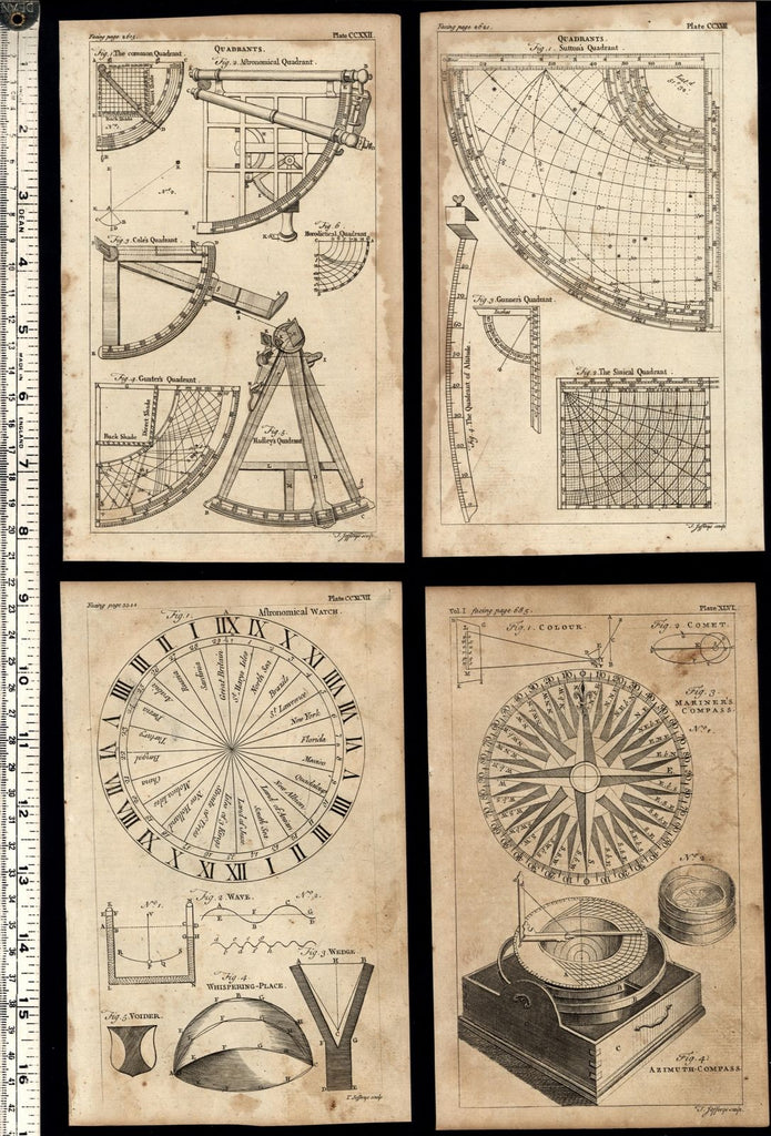 Mapping Surveying Cartography 1754 Thomas Jefferys lot of 10 old engraved print