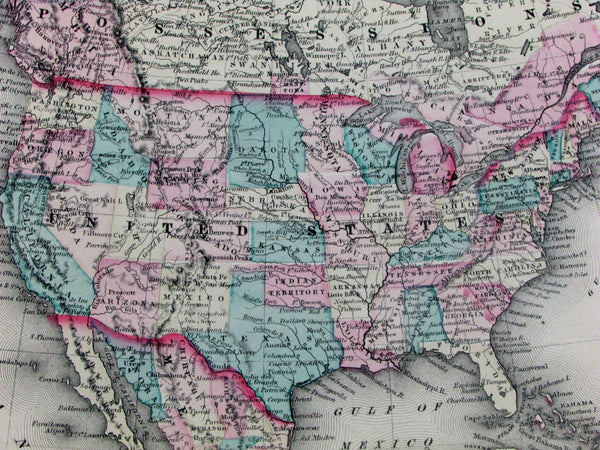 United States Alaska Terr. U.S. Mexico Canada Indian Territory 1877 OW Gray map