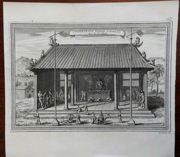 Temple Interior Chinese Religious Worship Street Scene 1748 Didot engraved view