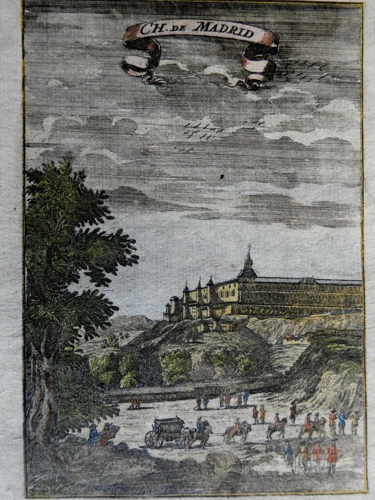 Royal Palace of Madrid Spanish Royal Residence Carriage Horses 1719 Mallet print