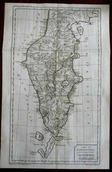 Kamchatka Peninsula Russian Empire East Asia 1760 Bellin map