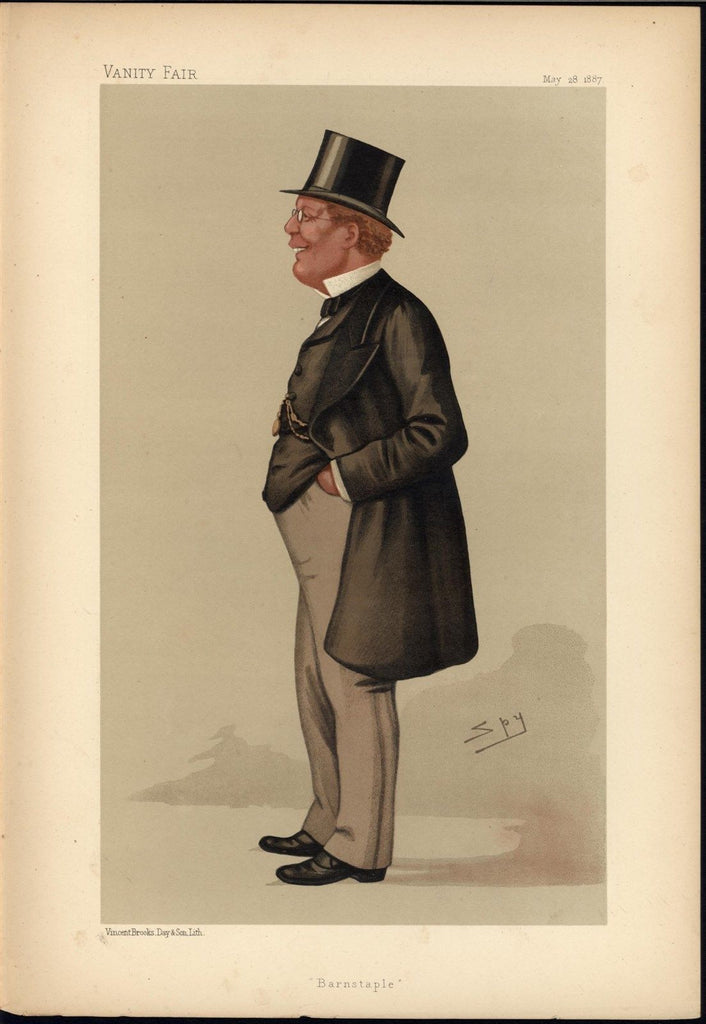 George Pitt Lewis Liberal MP Caricature 1887 old VANITY FAIR COLOR print