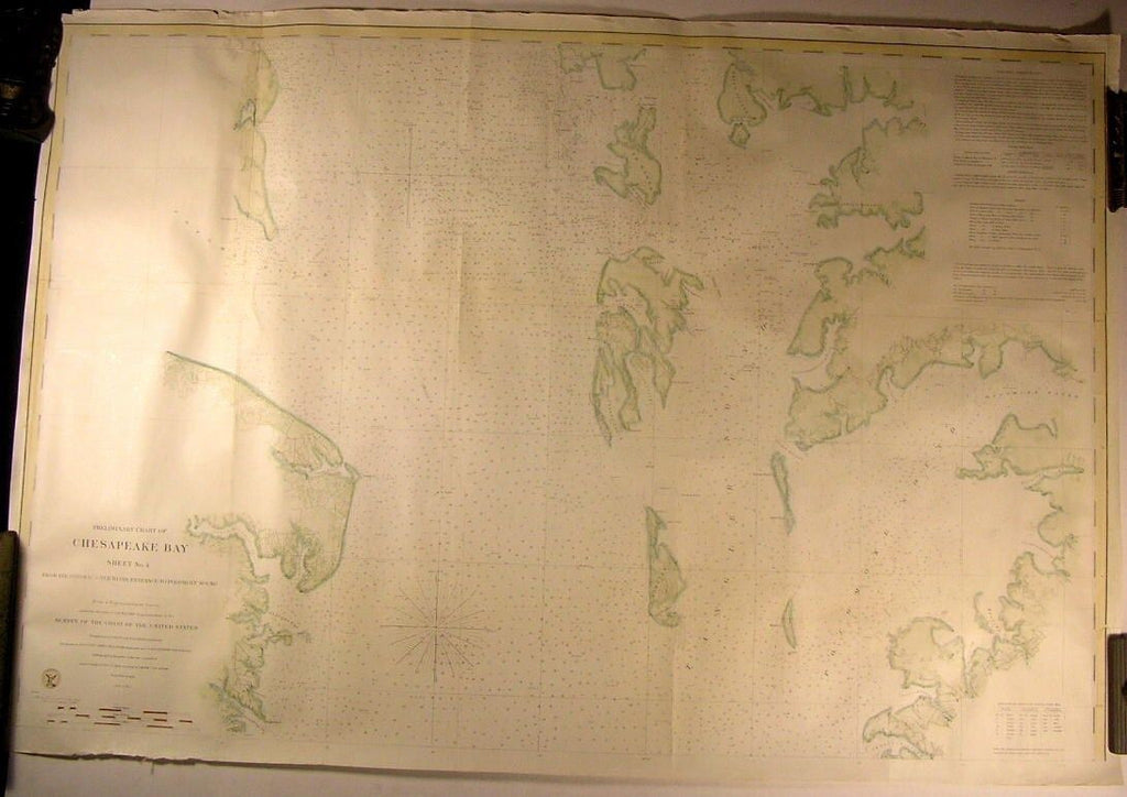Chesapeake Bay Potomac River to Pocomoke Sound 1859 U.S.C.S. old nautical chart