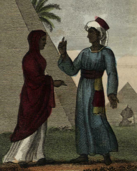 Copt Man & Woman of Egypt Africa 1820 Fashion Illustration print ethnic dress
