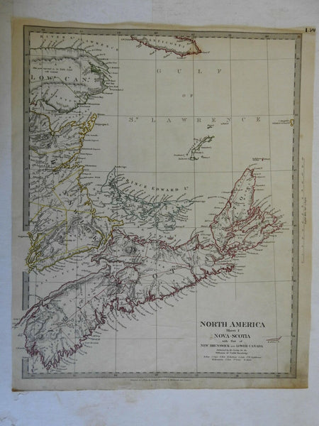 Nova Scotia Prince Edward Island Canada Sable 1832 SDUK detailed antique map