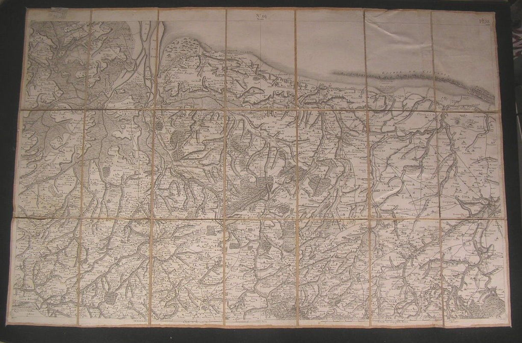 France coast Northern Normandy ca.1810 Goujon fine old vintage antique map