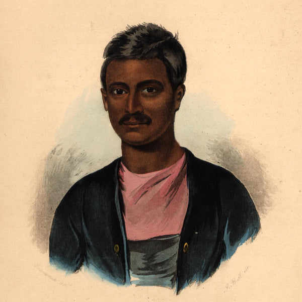 India Brahman male face man 1855 beautiful ethnic print lovely hand color