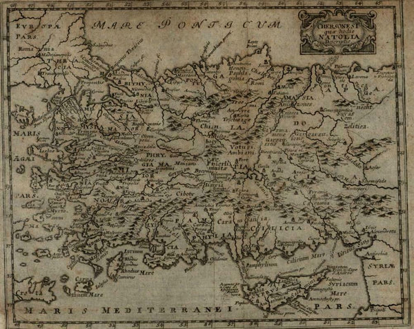 Anatolia Ottoman Empire modern day Turkey Cyprus 1694 Mosting map