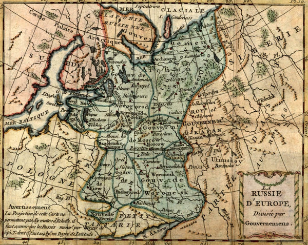 Russia in Europe Poland to Siberia c.1780 scarce miniature map