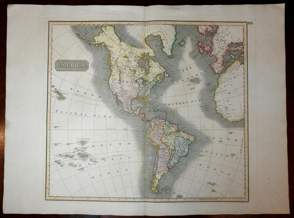 North America Canada Pacific Dangerous Archipelago Stony Mts. 1817 Thomson map