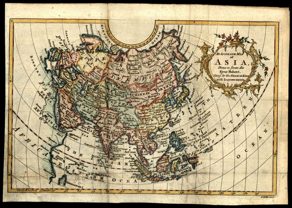 Asia contient Arabia India China Company's Land myth shown 1766 Rollos map