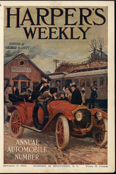 early Class Automobile Style Convertible Huntley 1913 John Coughlin art