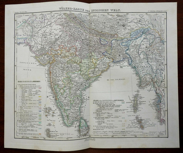 Ethnography of the British Raj Drawidas Hindus 1852 Berghaus ethnographic map
