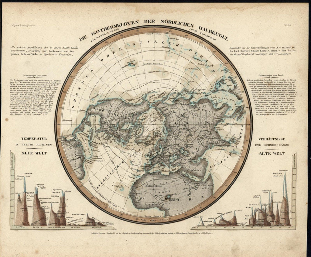 Isothermal northern hemisphere mt heights comparison 1850 old color isothermal northern hemisphere mt heights comparison 1850 old color world map gumiabroncs Image collections