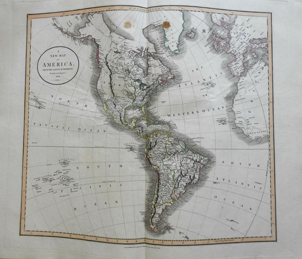 North & South America United States Canada New Spain Peru 1806 Cary folio map