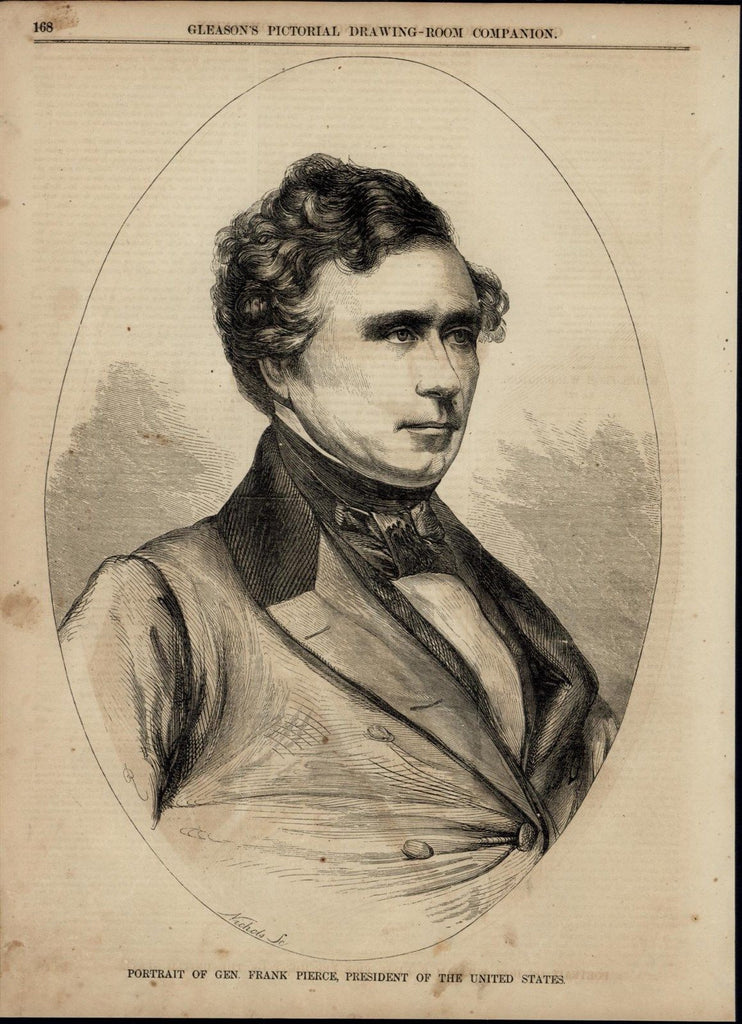 President Franklin Pierce Portrait nice 1853 great old print for display