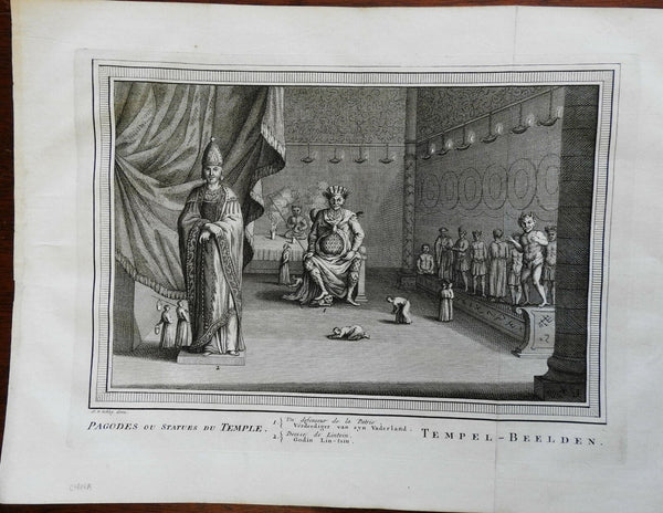 Pagodas & Statues Chinese Temple Realm Defender 1748 Schley engraved view