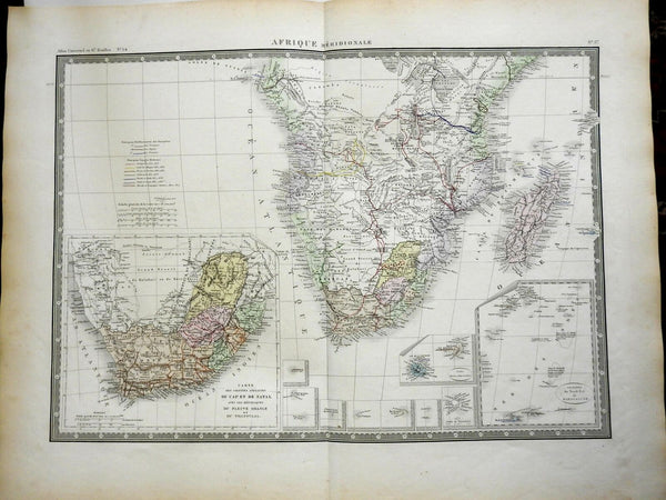 Southern Africa Cape Colony Orange Free State Natal Transvaal 1875 map