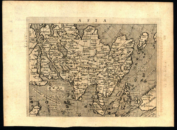 Arabia Asia Korea as island unknown Australia Japan near Alaska 1597 Magini map