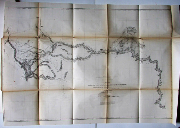 Des Lacs River North Dakota Rocky Mountains Montana 1855 Jeff Davis U.S. RR map