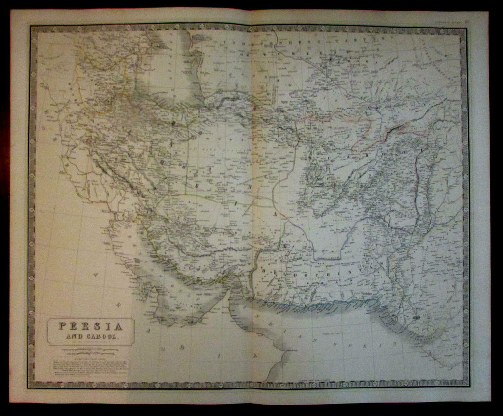 Persia Iran Beloochistan Cabool Cabul Afghanistan 1842 Johnston map