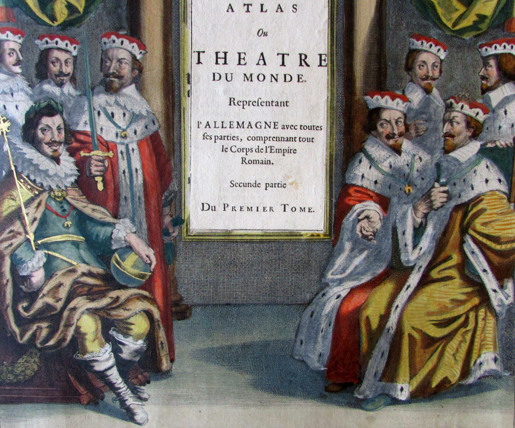 New Atlas Theater World Royalty 1644 Title Page Atlas Jansson fine antique print