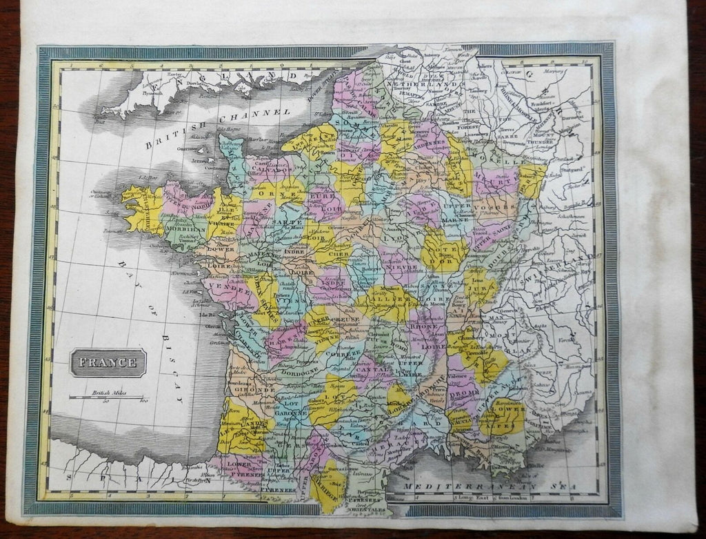 French Republic Departments Paris Marseilles Orleans 1832 Williams engraved map