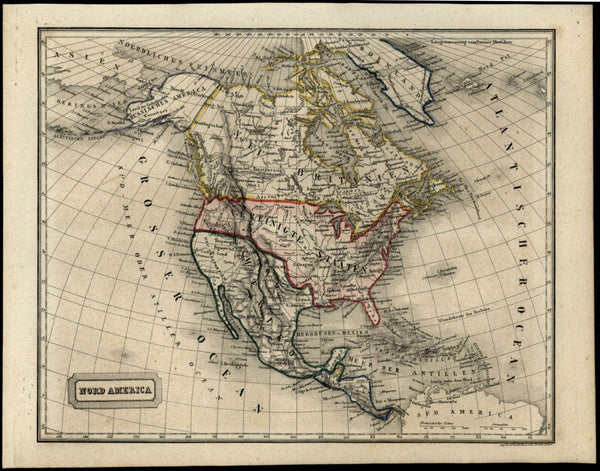 North America United States c.1850 shows apocryphal Columbia District in Oregon