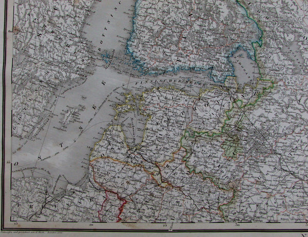Russia in Europe Sweden Finland Lithuania Latvia Baltic States 1856 Stein map