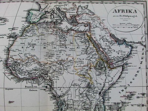 Afrika Africa European colonies Mt. Height comparison 1878 Stulpnagel map