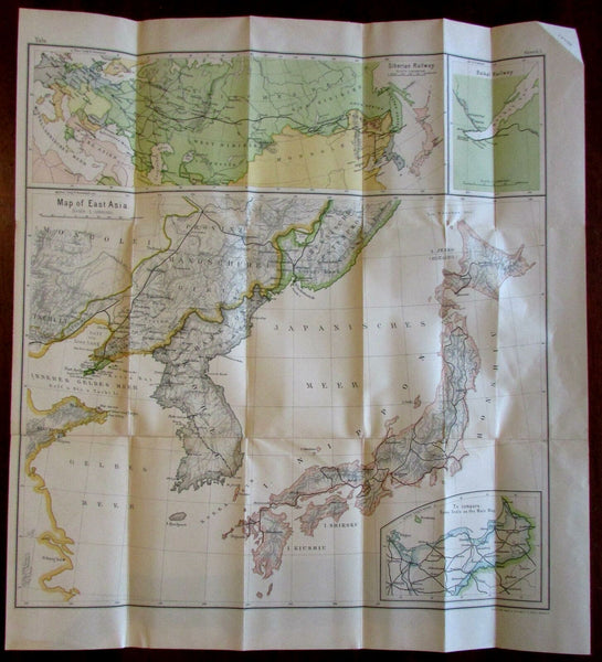 Korea Japan Russo-Japanese war 1908 Russo-Japanese large detailed scarce map