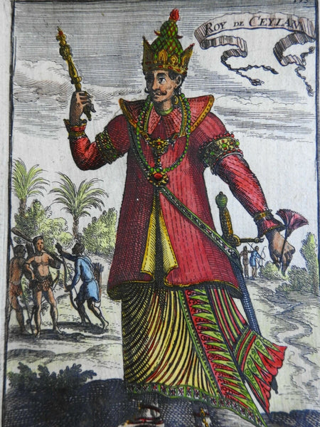 King of Ceylon Sri Lanka Costume Print Ethnic View 1683 Mallet print