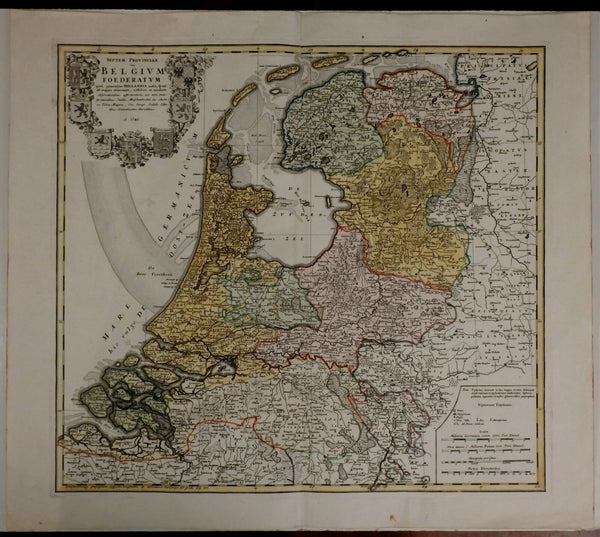 United Provinces Low Counties Nederland Netherlands Holland 1748 Homann map