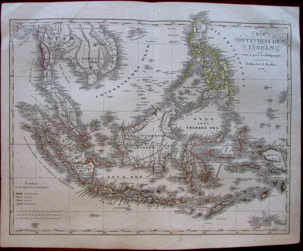 Southeast Asia East Indies islands Sumatra Siam Cambodia 1846 Stulpnagel map