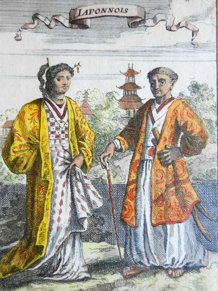 Japanese Couple Asia Ethnic View Costume Print 1683 Mallet print